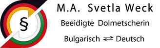 M. A. Svetla Weck Logo